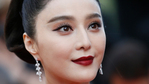Bingbing poses at the arrival of the screening of the film 'The Beguiled' at the 70th International Cannes Film Festival